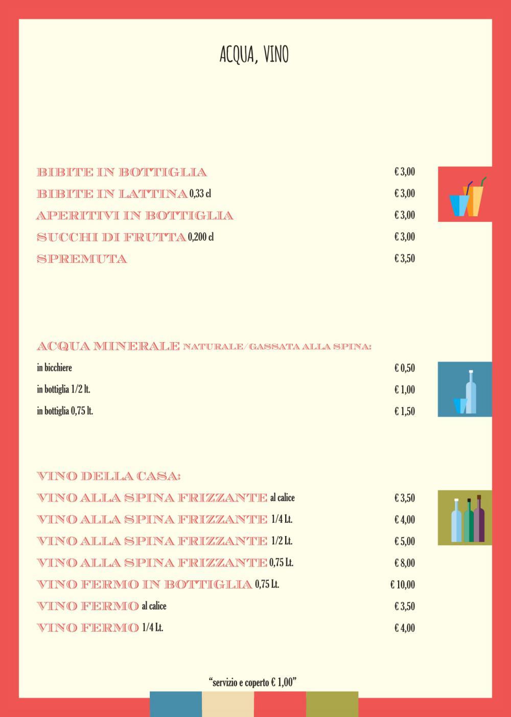 Baretto Rosso Senigallia - Menu